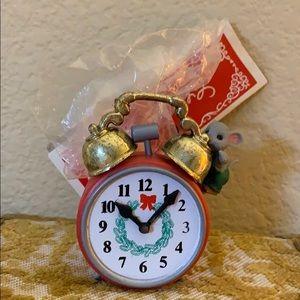 Mouse 🐁 on clock ⏰ vintage ornament Decoration